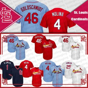 4 Yadier Molina Trikot Cardinal 46 Paul Goldschmidt 1 Ozzie Smith 25 Dexter Fowler Baseball Trikot