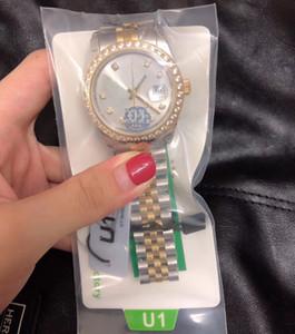 Vente chaude U1 usine 36mm Montre pour hommes UNISEX SAPPHIRE SAPPHIRE SAPHIRE DIAMOND DIAMONDABLES DYMONDABLE MALE MAIS UNE MALE MALE FEMELLE Montres-bracelets