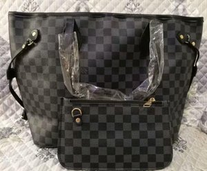 19bag Women Handbags Female PU Leather Tote Ladies Casual Shoulder Hand Bag Set 2Piece Handbag+Clutch Bags bolsas