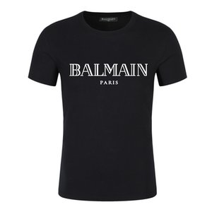LuxuxMens Designer-T-Shirt Sommer-Mode Brief Stickerei Mens womenShort Sleeves Oansatz Kleidung Qualitäts-Baumwolle T-Shirt S-5XL / Balmain