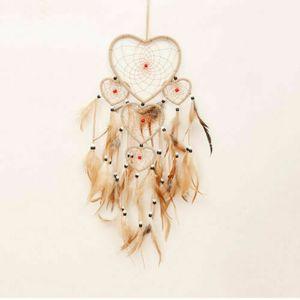 5 Coração Dream catcher malha de algodão Handmade Fairy Fantasy Dream catcher