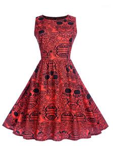 Beiläufige Kleider Mode schlanke Tier-Druck-Sleeveless Frauen-Ballkleid-Designer Weibliche Kleidung Saints Day Womens