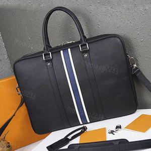Erkekler Tasarımcı büyük Gerçek deri Evrak marka Erkek çanta Bilgisayar çanta lüks Omuz Çantaları Çantası M34418 handbags