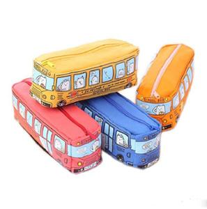 Школьный автобус канцелярские сумка пенал большой емкости холст милый творческий