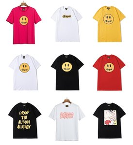 2020 Justin Bieber Drew House T shirt Short Sleeve O-Neck Cotton Hip Hop Tee Men Women Smile Drew Tees Streetwear Tops Donuts Street Tshirt