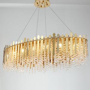 L'oro di cristallo metallo lampadario creativo decorazione del salone della casa lungo Lampada PA0619 Modern Luxury Pendant Light