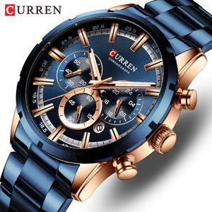 CURREN Top Brand Luxury Men Watch Business Men Watches Quartz Waterproof Casual Wristwatches Relogio Masculino Male Clock CJ191217