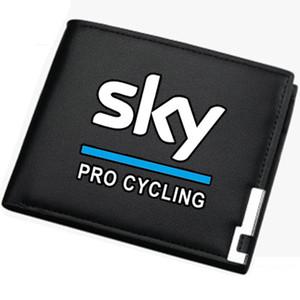Carteira do céu da equipe Bolsa do jogador da bicicleta Caso curto da nota do dinheiro de couro do esporte da bicicleta Notecase do dinheiro Saco de burse da mudança frouxa Suportes do cartão