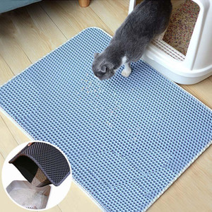 Waterproof maca do gato Pet Mat dobrável EVA Double-Layer Cats partout inferior antiderrapante Pet Litter Mat Cat camada de serapilheira Pet Catcher Mats