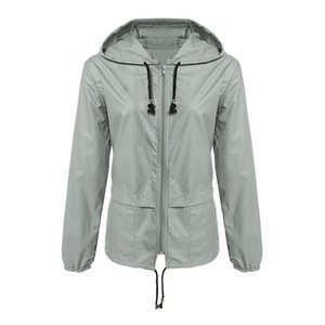 Womens Hooded Designer Jackets Waterproof Loose Womens Outerwear With Zipper Active Fashion Female Coats Apparel