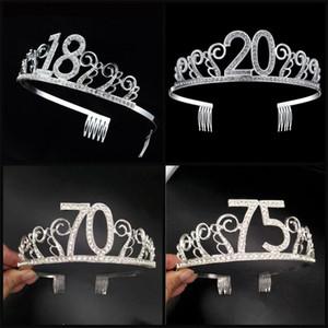 Cake Baking Crown Fascia per capelli Colore Decortaive Princess Hair Hoop Party Copricapo Decorazioni per feste di compleanno 16 18 20 21 30years5 8mr E1