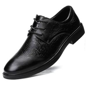 Uomini di marca di scarpe di alta qualità Oxfords Stripe Uomo Scarpe di vestito di cuoio autentico business formale Flats Plus Size 46 * 1639