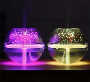 500 ml de ar humidfier Difusor de Aroma de Mesa USB Ultrassônico Noite de Cristal Lâmpada Do Projetor Névoa Criador LEVOU Para Casa