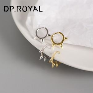 Regalos de la joyería 925 pendientes de plata del pendiente estándar geométrica Stud Los hombres gótico retro 2019 de la Mujer