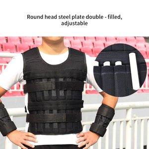 1.5kg Laden Weighted Vest Boxtraining Adjustable Übung Schwarz Westen Swat Sanda Sparring Gewichtsweste Fitnessgeräte