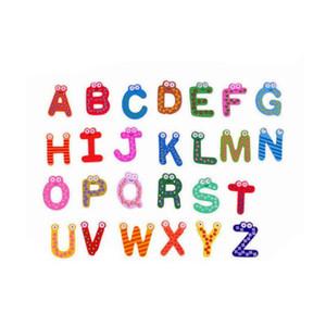 26 Letter Fridge Magnets Animal A-Z Wooden Magnetic Stickers Alphabet Fridge Magnet Baby Child Toys Home Garden Decoration LXL802Q