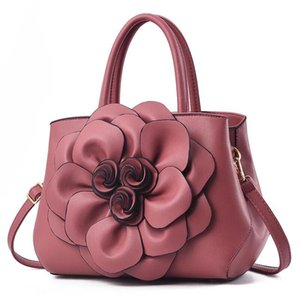Top quality Paris style flower handbags flower composite bags lady clutch shoulder tote female purse with wallet 88
