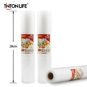 Tinton Life 28cmx500cm Rolls Sous Vide Chaleur Scellant Saver Sacs De Stockage Des Aliments Saran Wrap Q190603