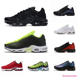 New TN Plus SE Mens Running shoes Laser Fuchsia Hyper Crimson Triple Black White Men Mesh Chaussures Homme Trainer Sports Sneakers Runners