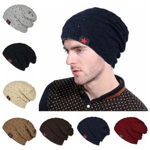 Fünf-Sterne-gestreiften Hut Frauen Männer Hohl doppelseitige Winter Warm Caps Fashion Strickmütze Outdoor Ski Cap TTA1759