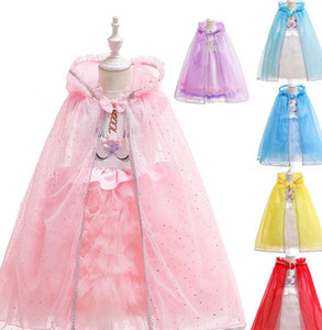 زي العباءة زي عيد القديسين للأطفال عيد رأس شال الملابس الأميرة Cosplay الأطفال زي الكرتون Capes الأميرة Poncho KKA7735