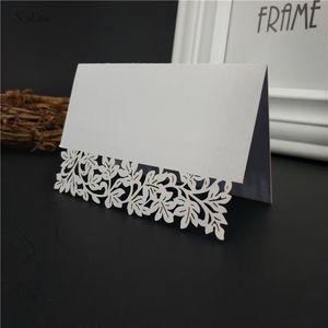 10 50 100pcs 9*12cm Laser Cut Place Cards Wedding Name Cards Wine Glass Wedding Event Laser Cut Flower Decoupage 7z