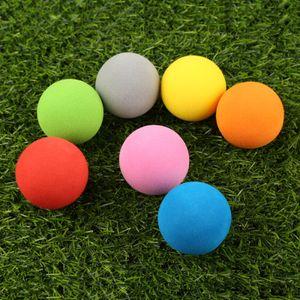 Cheap 10Pcs Lot EVA Foam Soft Sponge Balls for Outdoor Golf Swing Practice Balls for Golf Tennis Training Solid 7 Colors