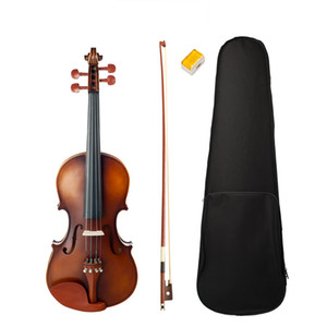 Acoustic Violin 4 4 Full Size Violin Fiddle W  Bow Case Bridge Jujube Wood Accessories High Quality