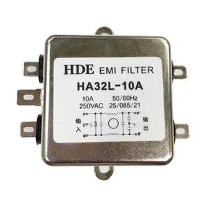 Однофазный переменного тока электромагнитных помех Мощность фильтра, HA32L-10A 10Amp 250V 50Hz / 60Hz