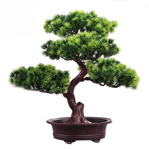 Artificial Lifelike Home Decor Simulation Beauty Pine Phoenix pine Tree Potted Plant Office DIY Decorative Bonsai Festival Gift