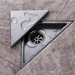 숨겨진 유형 삼각형 타일 삽입 바닥 쓰레기통 샤워 배수구 232mm * 117mm, 304 스테인리스 바닥 배수구