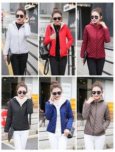 2019 designer Fashion Winter Basic Jackets Women Thick FLeece Velvet Lamb Hooded Coats Cotton Jacket Womens Outwear Coat wholesale
