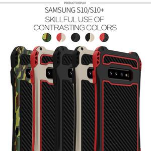 R-просто AMIRA S10 металлический чехол для телефона для Samsung Galaxy S10 плюс алюминиевый углеродное волокно с углеродным волоконным покрытием Coque Coque