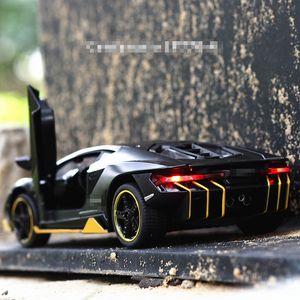 Heißer lp770 1:32 auto legierung sport auto modell diecast sound licht super racing hebeschwanz auto räder spielzeug für kinder sh190910