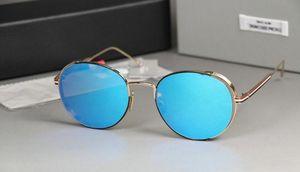 Старинные очки том оправы для очков Мужчины Женщины солнцезащитные очки tb106 UVA UVB объектив TB 106 солнцезащитные очки с коричневой оригинальной коробке