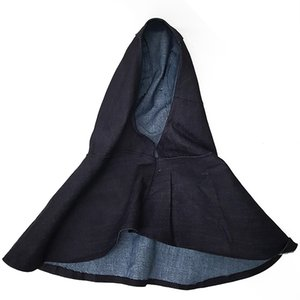 Denim Azul Tecido Cabeça Soldador Cap Chama Retardante Capacete Chapéu de Soldagem Cabeça Pescoço Capa Protetora Soldador Tampa de Segurança