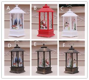 Levou vela do Natal Decorações da árvore de Natal LED Light Xmas Ornamento Pingentes