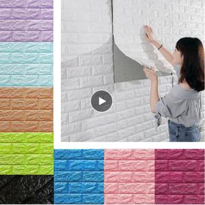 3D pegatinas de pared imitación de ladrillo Dormitorio Decoración impermeable autoadhesivo Telón de fondo fondo de pantalla para estar Cocina TV Decoración