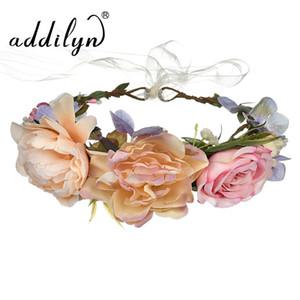 En gros Fille Rose Tissu Fleur Accessoire De Cheveux Décoratif De Pâques Fleur Bandeau Pince À Cheveux Enfants Tête Guirlande à vendre