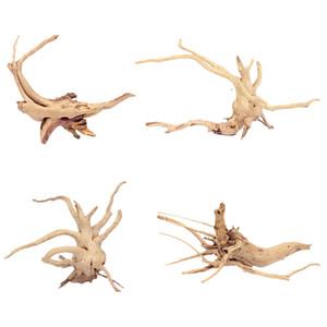 4PCS 독성 장식 천연 인공 수족관 장비 조경 장식 유목