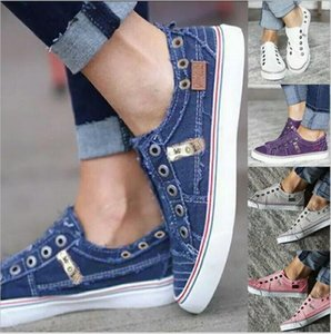 Canvas Shoes Designer Denim Shoes Spring Plus Size Loafers Fashion Casual Shoe Classic Lazy Sneaker Chaussures Outdoor Sports Shoe C7435
