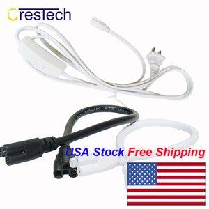 T5 T8 lâmpada LED que liga o fio 2ft 60cm de cor branca com dois cabos de cabeça integrados com três cabos de ligação com tubos proung linkáveis