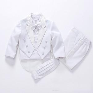 Tuxedo Blazers para caballero Los juegos de boda Boy Suit Boys' para las bodas (Jacket + Pants + Tie + correa + camisa)