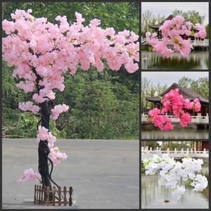 Filiali Cherry Blossoms fiori artificiali per Wedding Ponte ad arco del soffitto della decorazione Sfondo decorazione della parete di falsificazione fiore