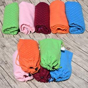 US-Stock-DHL-Versand! Decken Fasern Yoga 183 * 63cm Erweiterte Yogatuch Antislip-Strand-Matte Soft-Skidproof Stern Yoga Decke Handtuch fy6201