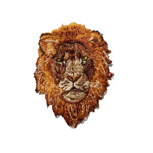 7 cm marrone testa di leone bestia ricamata patch cucire ferro su badge per borsa abito jeans cappello t shirt diy appliques decorazione del mestiere