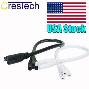 1.5M T4 T5 T8 Tube Connector Cable Cord US Plug Line for LED Light Bar Fluorescent 250V 2.5A T5 Connector Cable Wire