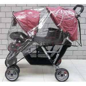 2020 Stroller Raincoat Side By Side Stroller pushchair Weather Shield Baby Rain Cover Waterproof baby carriage Cart Dust &w