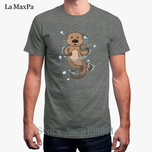 Funny Casual Otter Apparel T-Shirt For Men Basic Solid T Shirt For Mens O Neck Summer Tee Shirt Mand Impresion De Camisetas