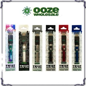 OOZE Twist Preheat 350mah Battery Charger Kit variable voltage Preheat Bud Touch battery 510 thread Vape battery
